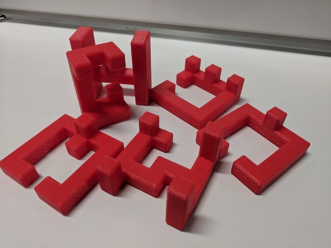 Printable Interlocking Puzzle #4 - Level 11 by richgain 3D Print 26998