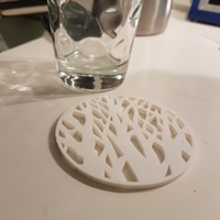 Small Tree silhouette coaster 3D Printing 27073