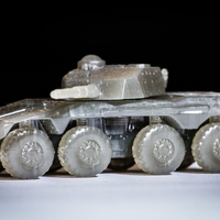 Small Rooikat Amourd Car( Wargame ) 3D Printing 27152