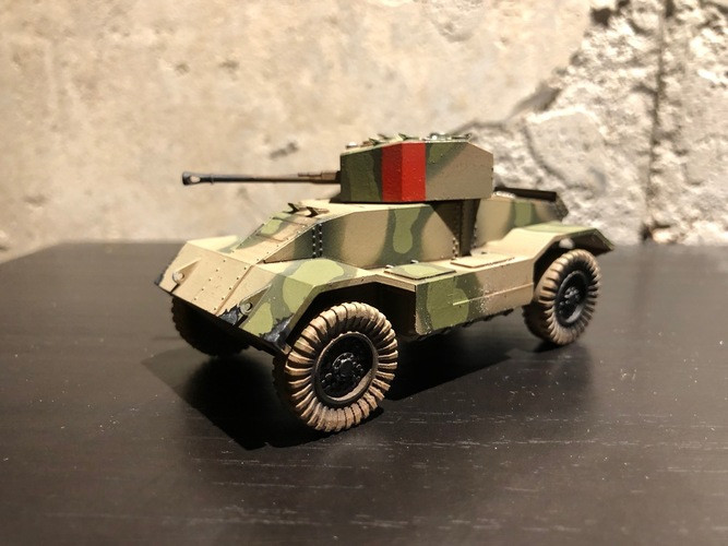 BRITISH ARMORED CAR, HEAVY, WWII 3D Print 27229