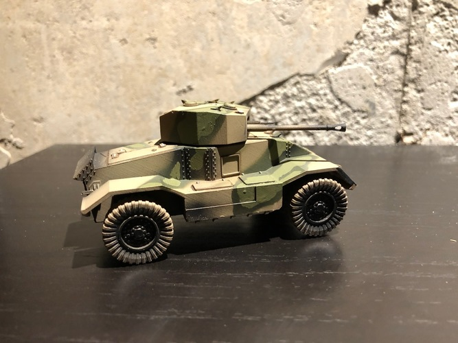 BRITISH ARMORED CAR, HEAVY, WWII 3D Print 27230