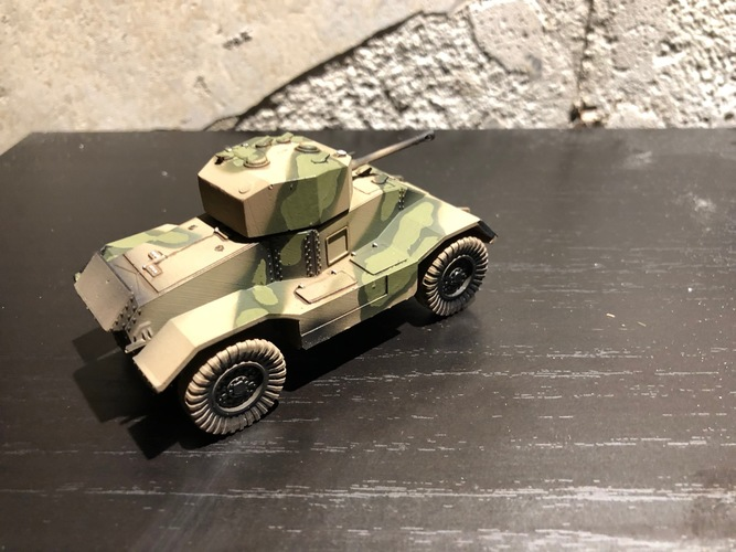 BRITISH ARMORED CAR, HEAVY, WWII 3D Print 27231
