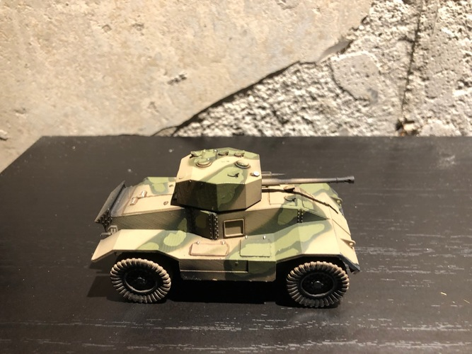 BRITISH ARMORED CAR, HEAVY, WWII 3D Print 27232