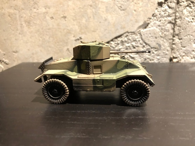 BRITISH ARMORED CAR, HEAVY, WWII 3D Print 27233