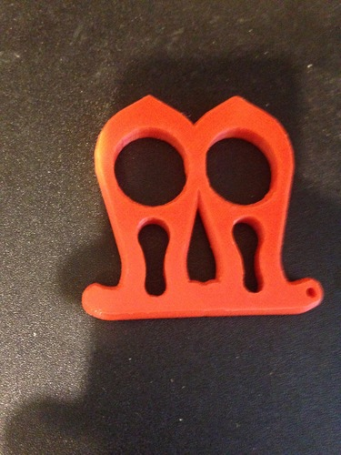 Self defense knuckleduster keychain 3D Print 27557