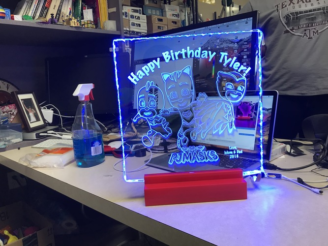 Etched Glass Project Stand 3D Print 27581