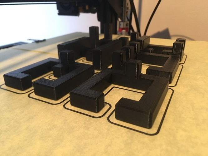 Printable Interlocking Puzzle #4 - Level 11 by richgain 3D Print 27682