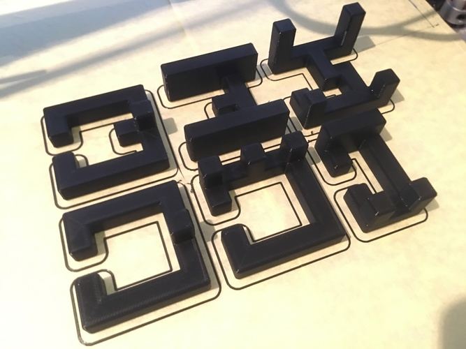 Printable Interlocking Puzzle #4 - Level 11 by richgain 3D Print 27683