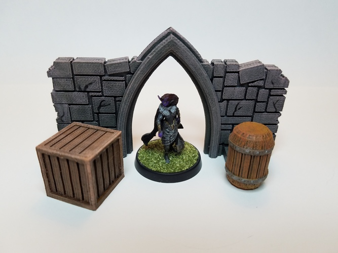 Tabletop Terrain - Wooden Storage 3D Print 27715