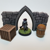 Small Tabletop Terrain - Wooden Storage 3D Printing 27715