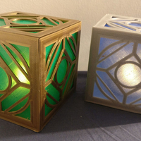 Small Jedi Holocron (light-up with an LED tealight!) 3D Printing 27719