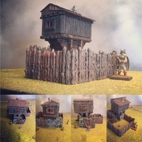 Small  Promotional Hunting Lodge PartI 3D Printing 27866