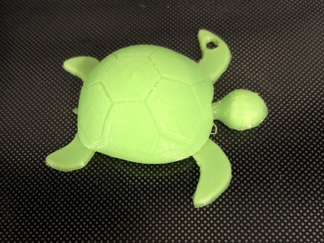 Sea turtle keychain 3D Print 27922