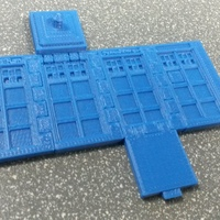 Small TARDIS Run board game Print-In-One 3D Printing 2793