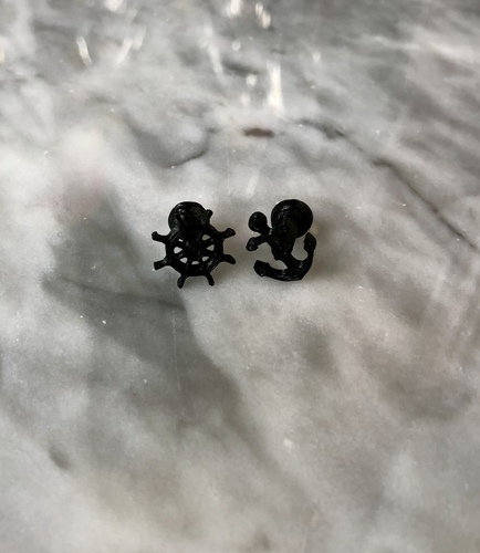 Anchor & Wheel Cufflinks 3D Print 27954