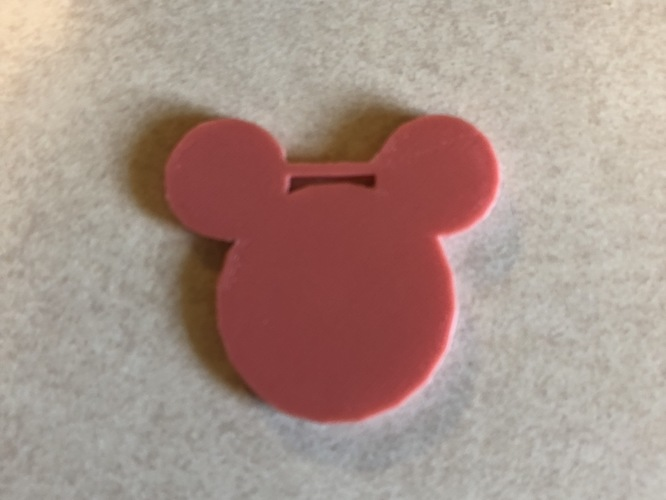 mouse luggage tag 3D Print 27973