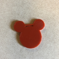 Small mouse luggage tag 3D Printing 27974