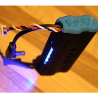 Small Fatshark 18650 FPV battery Case with LED 3D Printing 28319