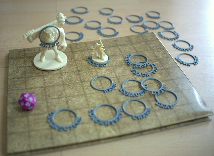 D&D Condition Rings 3D Print 28326