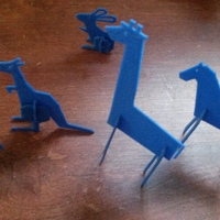 Small Simple animals 2 3D Printing 2838