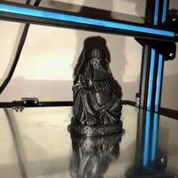 Small Darth Vader Buddha with saber 3D Printing 28390