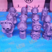 Small Doctor Who Monster Pawns 3D Printing 284