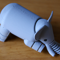 Small Elephant 3D Printing 2842