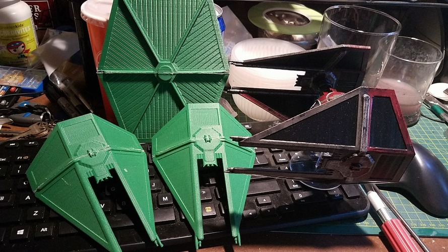 Star Wars Legion Terrain - DWG TIE Interceptor 3D Print 28436