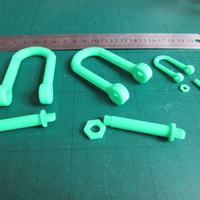 Small Tank style Tow Hook (Shackle) 3D Printing 28505