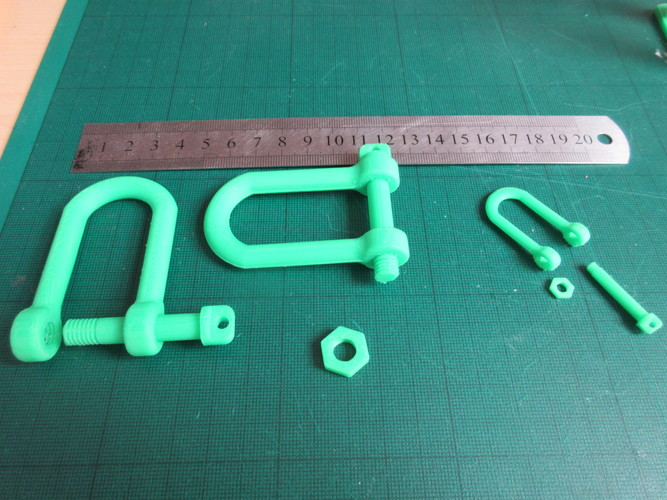 Tank style Tow Hook (Shackle) 3D Print 28506