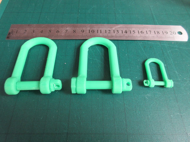 Tank style Tow Hook (Shackle) 3D Print 28507