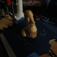 Small Low Poly Moai 3D Printing 2856