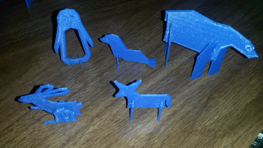 Simple Animals 4 - Polar Series 3D Print 2893