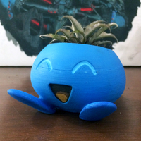 Small ODDRAIN : Oddish High Poly Planter [Printable without supports] 3D Printing 28966