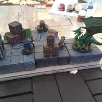 Small Tabletop Terrain - Wooden Storage 3D Printing 29081
