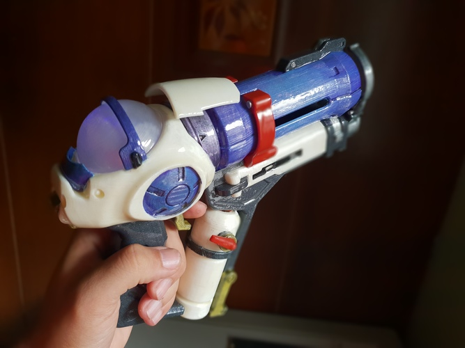 DIY Overwatch real size Mei Endothermic Blaster HQ printable kit 3D Print 29121
