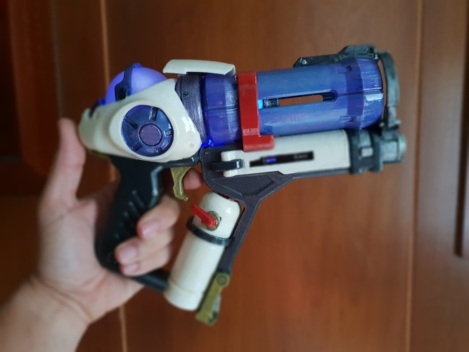 DIY Overwatch real size Mei Endothermic Blaster HQ printable kit 3D Print 29122