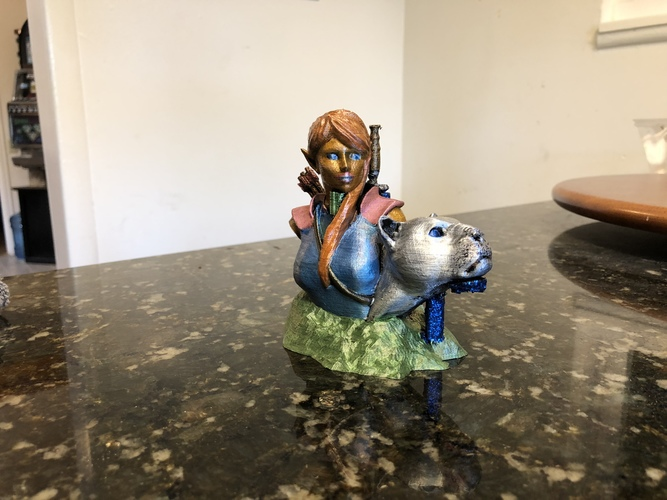 Bust - The Huntress v1.2 3D Print 29368