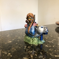 Small Bust - The Huntress v1.2 3D Printing 29368