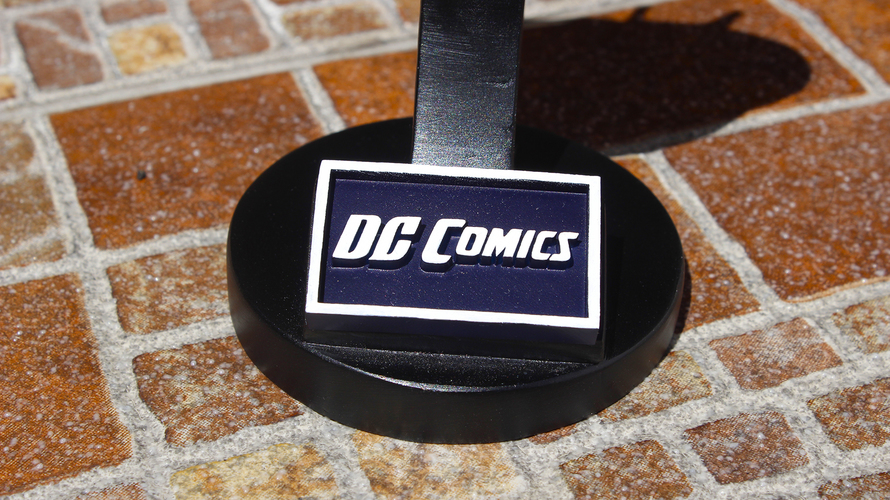 DC  Comics Logo Plaque Rectangle 3D Print 29378