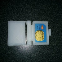 Small SIM Card Case 3D Printing 2944