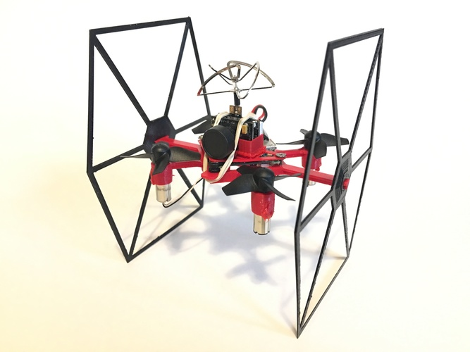 TINY TIE - 3D PRINTABLE INDOOR FPV TIE FIGHTER QUADCOPTER  3D Print 29465