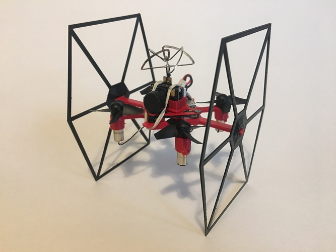 TINY TIE - 3D PRINTABLE INDOOR FPV TIE FIGHTER QUADCOPTER  3D Print 29466
