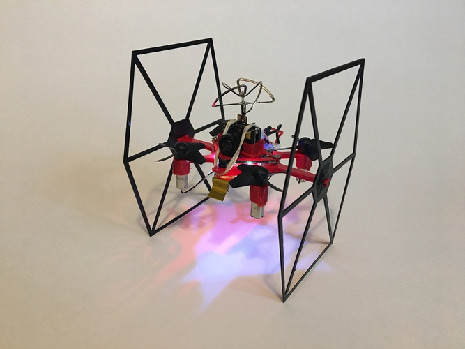 TINY TIE - 3D PRINTABLE INDOOR FPV TIE FIGHTER QUADCOPTER  3D Print 29467