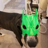 Small Bat Beagle Mask 3D Printing 29484