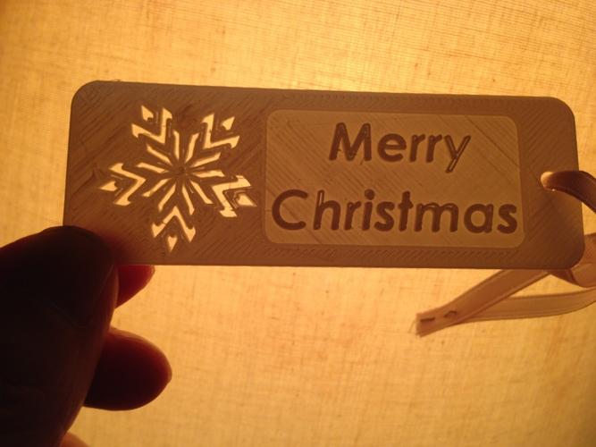 """Merry Christmas""-Bookmarker 3D Print 29715"