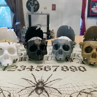 Small Boneheads: Skull Box w/ Brain - via 3DKitbash.com 3D Printing 29739
