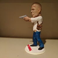 Small Bruce Willis DIE HARD 3D Printing 29893