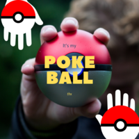 Small Pokeball (opens and closes) 3D Printing 30086