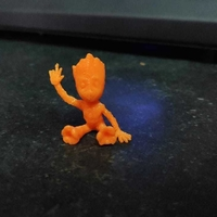 Small baby groot sitting waving 3D Printing 30170